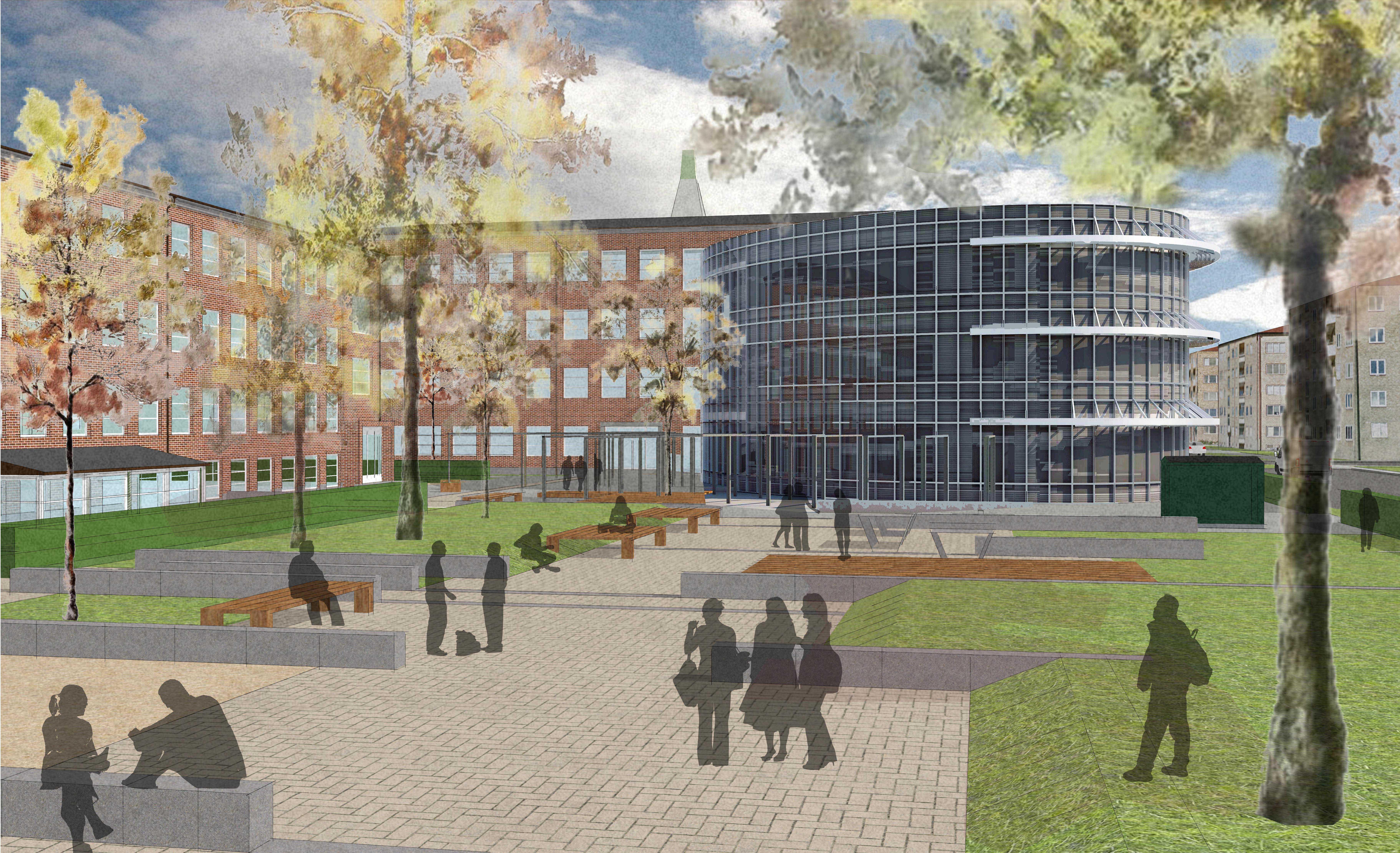 Bygglov för ny 7-9-skola vid Borgarskolan